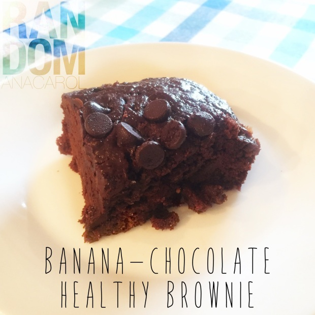 BANANA-CHOCOLATE HEALTHY BROWNIE